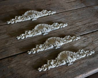 Rococo Decorative Embelishment, French Provencial Decorative Piece, Accent Piece, Shabby Chic Trim and Molding, Architectural Salvage