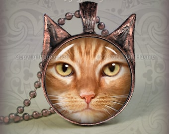 OTB3 Orange Tabby Cat pendant