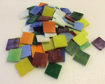 "35 - 3/4"" Opalescent Stained Glass Chip Assortment"