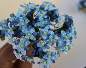 4 3/4 inches artificail floeìwers/Floral hair accessories/ fake flowers/ wirwd boyquet
