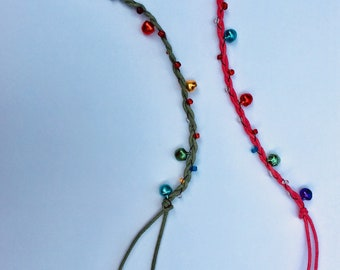 Summer Anklets; Beaded, Colourful Anklets