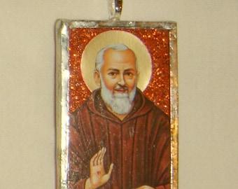 St Padre Pio Pendant inv1694