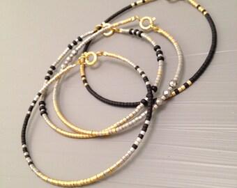 Simple bracelet Minimalist Bracelet Miyuki delica beads Minimalist Jewelry