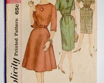 Simplicity 1960s Dress Sewing Pattern 3755 Size 20 Bust 40