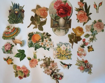 Vintage Ephemera Flower Die Cuts