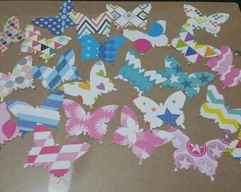 Butterfly die cut   100 butterflies per pack