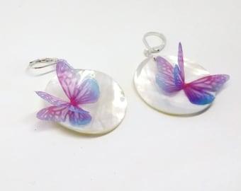 Beetle elytra earrings