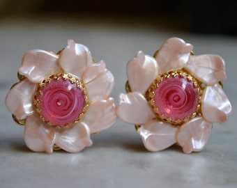 Large Pink Funky Earrings
