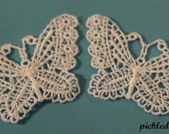 Venice Applique Lacy Butterflies #butterflies #lace #embellishment