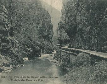 Dauphine, France - Route de la Grande Chartreuse. L'Entree du Desert,  circa 1910 Unused Postcard