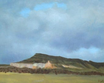 Small painting of northern New Mexico