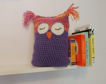 Owl crochet bookend doorstop decorative boy girl baby ornament