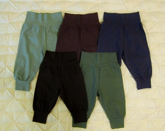 Organic Cotton baby pants - stretchy pants for little legs - soft baby pants