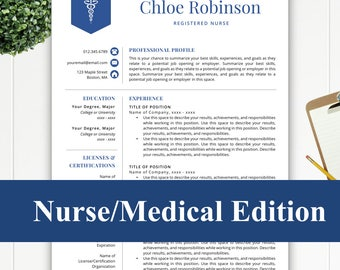 Resume resume template instant download by resumetemplatestudio nurse resume template for word pages rn resume nurse cv medical resume yelopaper Image collections