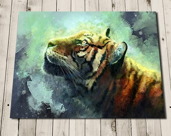 Tiger Print - Tiger Art - Hope - Tiger Painting - Tiger Picture - Tiger Illustration - Tiger Poster - Tiger Gift - Tiger Art Print