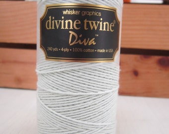 Eco Luxe ~ Divine Twine ~ Diva ~ Mint ~ 15 Yards ~ Bakers Twine