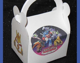 angry birds transformers party favor box, angry birds transformers birthday favor box, angry birds transformer favor box