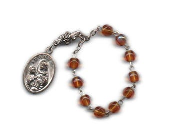 St Ann chaplet, patron of grandmothers, teachers, women in labor, precious metals workers,