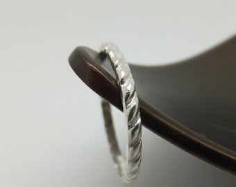 Twisted Silver Ring, Twisted Silver Band, Silver Ring, Silver Band, Wedding Band, Twist Pattern Ring, Sterling Silver Ring, Twisted Ring