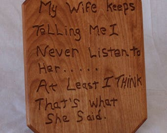 Funny Wood Sign