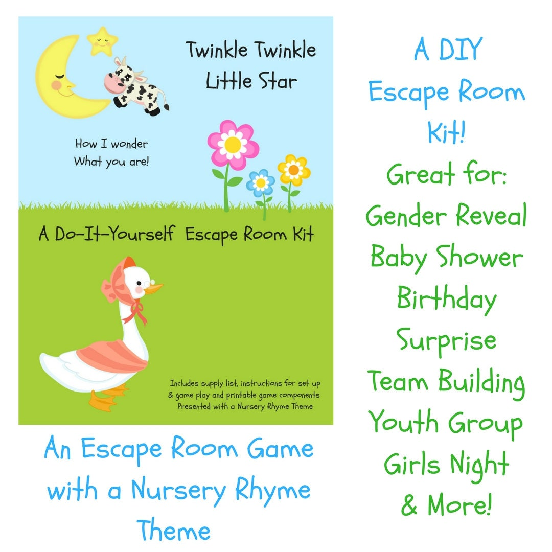 Twinkle twinkle nursery rhyme diy escape room kit gender ampliar solutioingenieria Gallery