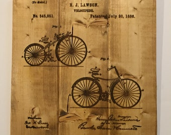 Victorian Bicycle Patent Sign