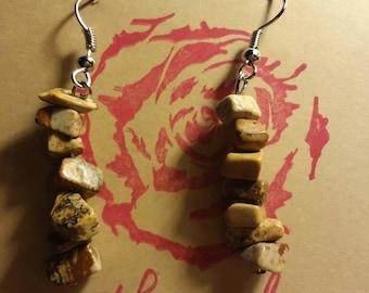 Picture jasper earrings.