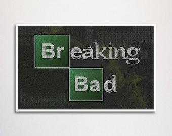 "Breaking Bad word art print - 11x17"""