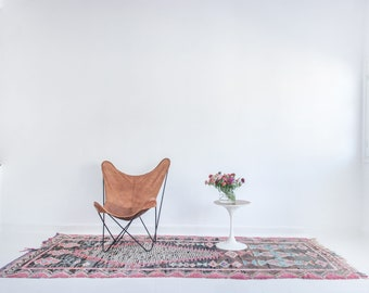 Vintage Moroccan Boucherouite Rug THE BIG BANG 4 ft 3 in x 10 ft 2 in / 130 x 310 cm