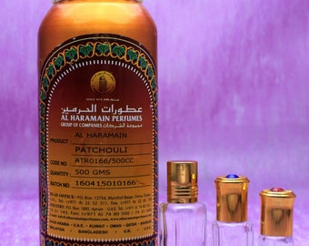 Patchouli by al Haramain, pure patchouli attar, Oriental perfumed oil, Arabian perfume from Saudi Arabia
