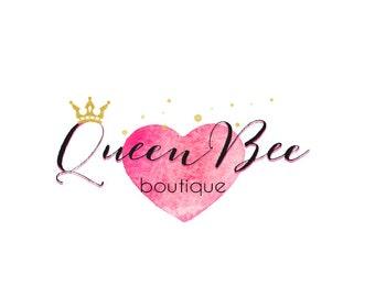 Logo Design, Premade Logo, Girly Logo, Makeup Logo, Boutique Logo, OOAK logo, Small Business Logo, Crown Logo, Feminine Logo, Pink Logo Logo