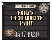 Personalized Police Line Up Party Sign Printables Custom Bachelorette Bachelor Date Photo Booth Prop Prohibition Speakeasy 1920s Gatsby Era