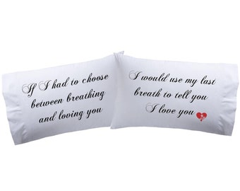 Set of 2 I Love You Pillowcases Super Soft Pillowcases-romantic Valentines Gifts for Couples Cute Valentines Day Gift Ideas