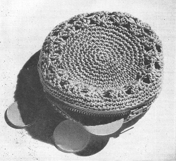 Crochet Purse Pattern Round Crochet Purse Vintage Coin Purse Easy