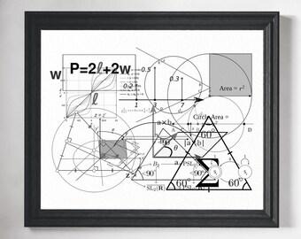 Math Print- Math Classroom Decor, Math Poster, Math Teacher Gift, Math Gift, Math Art Print, Mathematics Equation, Math Art, Math Geek Art