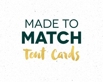 Made To Match Food Cards, Custom Wording or Design for Tent Cards