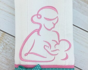 Breastfeeding Satin Filled Embroidery Design