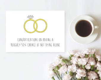 Wedding Marriage Greetings Card | Friend, Sibling Coworker Card | Congratulations Wedding Marriage Greetings Card