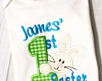 Personalized First Easter bodysuit or T-shirt - Customizable for boy or girl -