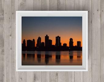 Sunrise Cityscape Sunrise Photography Lanscape Photography Sunrise Photo Photography Art Digital Image Downloadable Print Wall Art