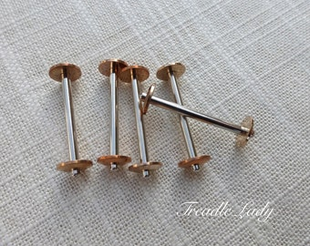 Long Bobbins, 5, for Singer and Many Other Vintage Sewing Machines, Read Details for Measurements
