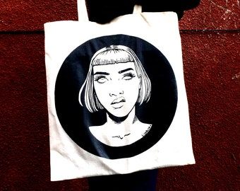 Eyeroll Reaction to Catcalling Screenprinted Canvas Tote Bag