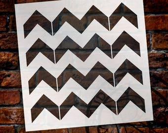 Thick Chevron Pattern Stencil - Select Size - STCL2000 - by StudioR12