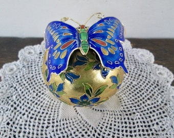 Cloisonne Butterfly on Ball
