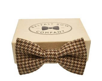 Handmade Tweed Bow Tie in Houndstooth - Adults & Boy's sizes Available