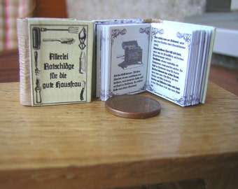 All sorts of advice for the good housewife miniature book 1:12
