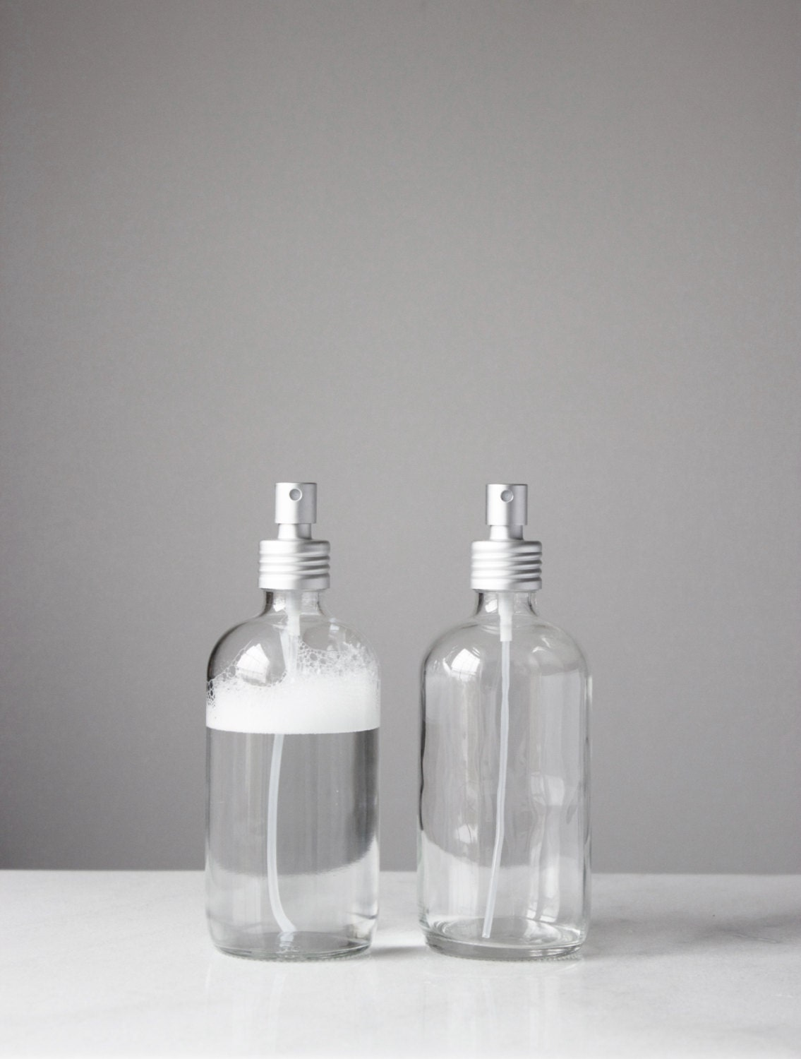 zoom Small Glass Spray Bottle with Aluminum
