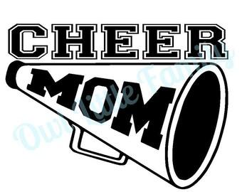 Cheer Mom Vinyl Car Decal