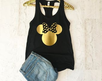 Disney Shirts For Women, Women Disney Tank Top, Minnie Mouse Shirt, Disney Tank Tops For Women, Disney World shirts, Disney Trip Shirt