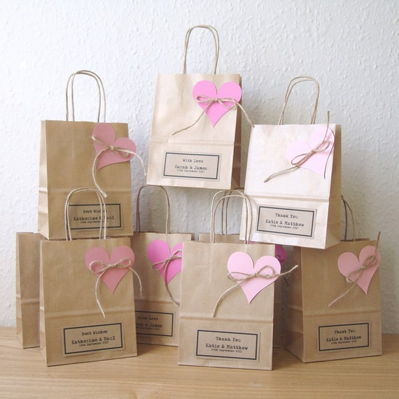 Small Gift For Wedding: Wedding Favour Bags SMALL Gift Bags Brown Paper Gift Wrap